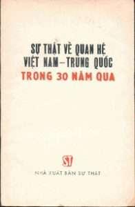 Su that ve quan he Viet Nam Trung Quoc trong 30 nam qua - Unknown